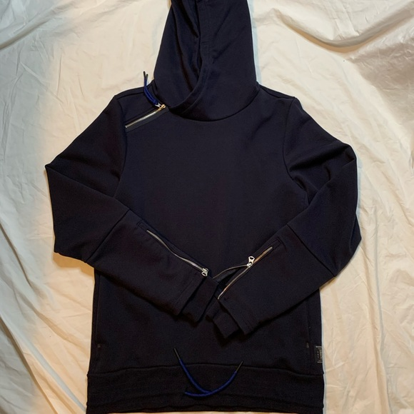 Scotch /& Soda Mens Zip Detailed Hoodie